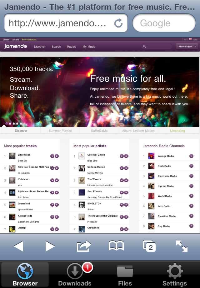 Downloads screenshot 2